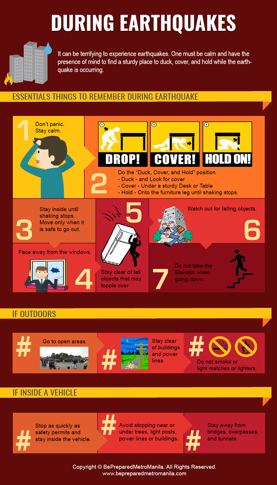 Earthquake preparedness what to do before during and for Where to go in an earthquake